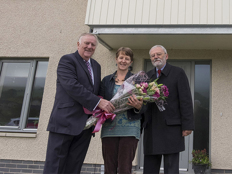 Affordable home developments officially opened in Denholm