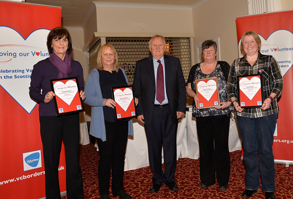 Eildon sponsors Adult Volunteer of the Year Award At 'Loving our Volunteers event' Ednam House, Kelso