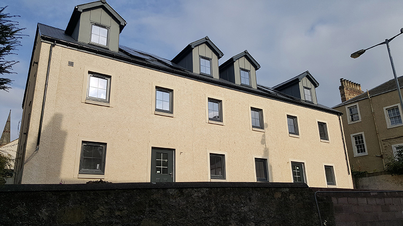 Councillor Mark Rowley unveils Eildon's latest development at Roxburgh and Union Street, Kelso