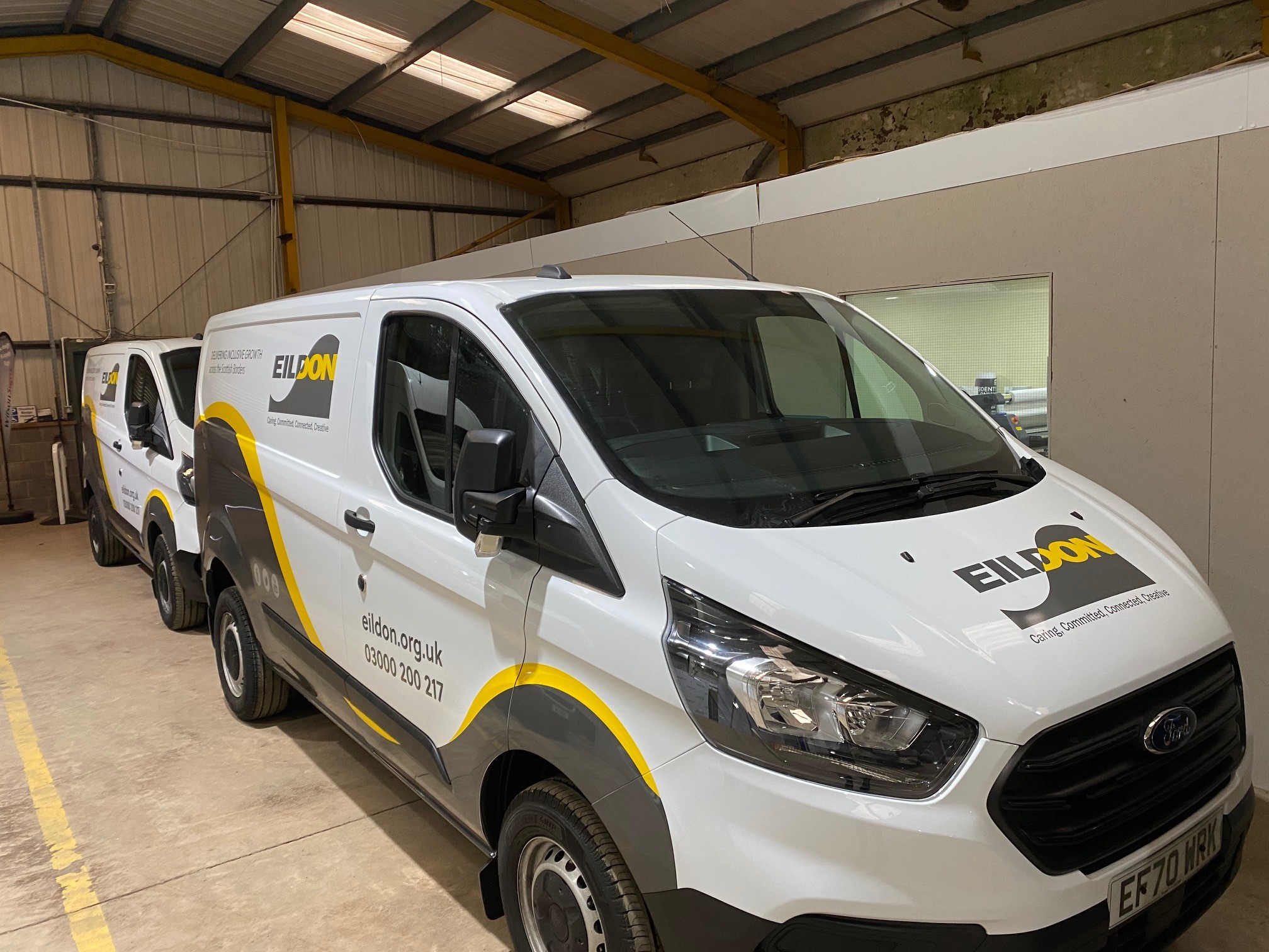 Looking good – our vans have been wrapped in fresh clean signage today and are ready for the road