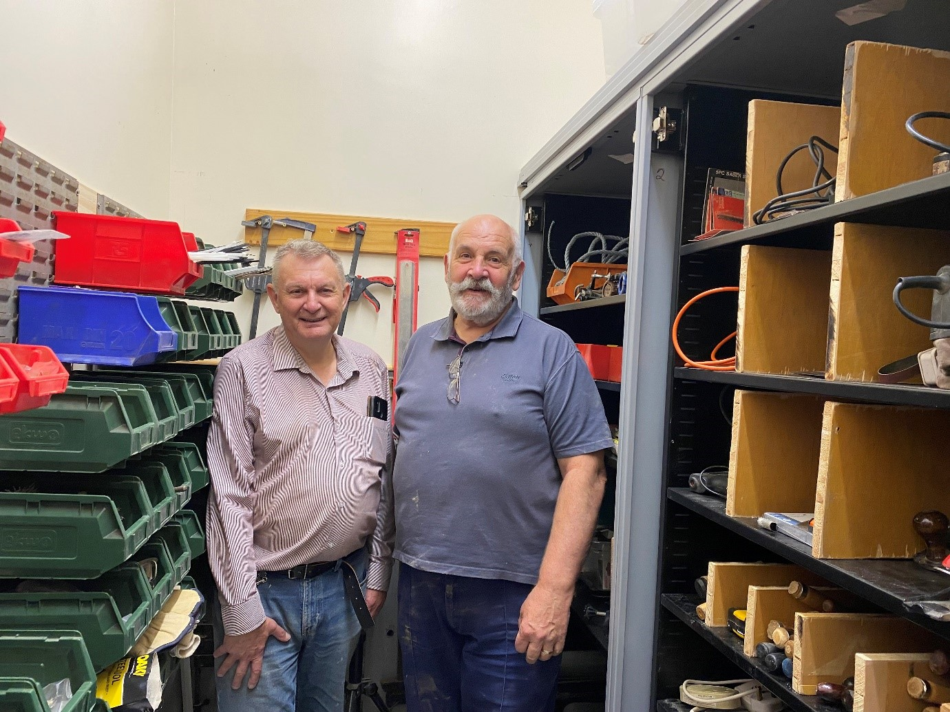 Eildon donates excess office furniture  to Hawick Men's Shed